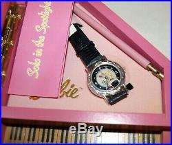 NIB Barbie Doll 1995 Fossil Le Watch & Piano Case Solo in The Spotlight
