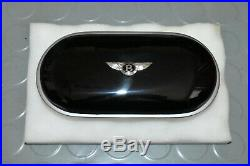 OEM Bentley Bentayga Veneer Sunglasses Case Cup holder cover Piano Black Beluga