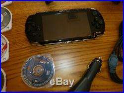 PSP 3001 Piano Black Bundle Game System, 16 Games, Plus Case, Adapters & cords