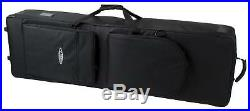 Professional Keyboard Stage Piano Bag Case Soft Padded with Trolley Handle 135cm