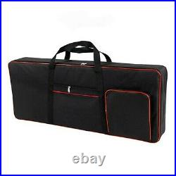 QEES 61 Note Keyboard Bag, Electric Piano Case, 600D Oxford Cloth with 10mm C