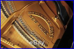 Rebuilt 1923, Steinway Model O grand piano with a black case. 5 year warranty
