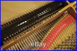 Rebuilt, 1970, Steinway Model A grand piano with a black case. 5 year warranty