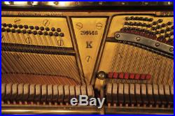 Reconditioned, 1939, Steinway Model K upright piano with a black case