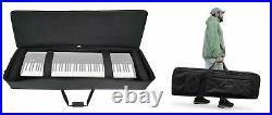 Rockville 88 Key Slim Padded Rigid Keyboard Gig Bag Case For ROLAND GOPIANO88