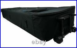 Rockville Rolling Bag Keyboard Case+Wheels+Handle For Korg D1 88-key Stage Piano