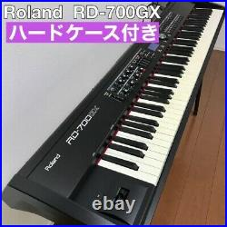 Roland RD-700GX stage keyboard piano with hard case Black from Japan Music