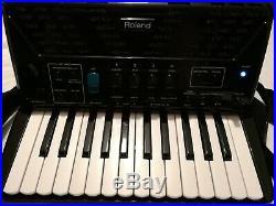 Roland V-Accordion FR-1X Black Piano Digital Accordion Mint Condition with Case