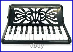Rossetti 25 Keys 12 Bass Buttons 2512 Piano Accordion Black + Case, Strap