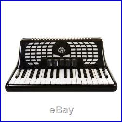 Rossetti 3460 60 Bass 34 Keys 5 Switch Piano Accordion BLACK + Case & Straps