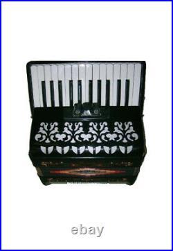 Rossetti Piano Accordion 48 Bass 26 Keys 3 Switches Black