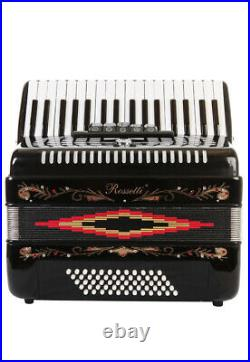Rossetti Piano Accordion 60 Bass 34 Keys 5 Switches Black