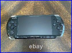 SONY PSP-3001 64MB Piano Black Handheld System, 2 Games, 3 Movies, Case, changer