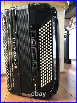 Scandalli super vi extreme piano accordion very good condition rarely used