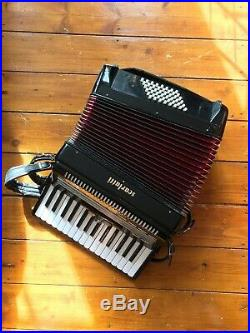 Scarlatti Piano Accordion 48 Bass, Black + Hard Case
