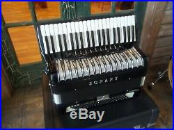 Sonart by De Luca Full Sized Piano Accordion Model S. 493 with Mic & Case Black