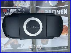 Sony PSP-1001 Black Handheld Portable Playstation System with 2 New Games & Case