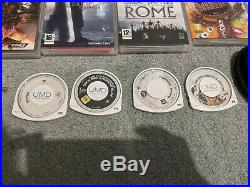 Sony PSP 1003 Piano Black Bundle 14 games, 2 movies, hard & soft case