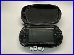 Sony PSP 2003 Piano Black Tested With Charger, Case And Memory Card