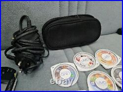 Sony PSP 2003 PlayStation Portable System Black with games, carry case& 2gb