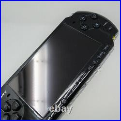 Sony PSP-3000 64MB Piano Black Handheld System with 4 Games GTA Case and Charger