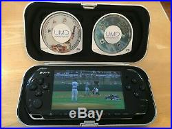 Sony PSP-3000 Bundle Piano Black Great Condition, 3 Games, 2 cases, 2 chargers
