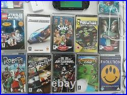 Sony PSP-3000 Piano Black Handheld System Bundle With 13 Games And 2 Case's plus