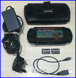 Sony PSP-3000 Piano Black Handheld System with Cables, Case & Memory Sticks