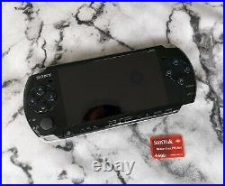 Sony PSP 3003 64MB Piano Black + 4GB Memory Card and New Genuine Leather Case