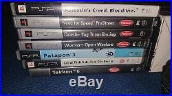 Sony PSP 3003 PB Console & Games Bundle With Case Original Box+7 games PATAPON 3