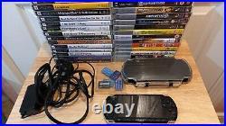 Sony PSP-3003 Piano Black, Lead, Case, Memory Sticks, 14 Games 13 Films. Bundle