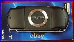 Sony PSP Console with Extra Carrying Case PSP1001 Piano Black Excellent Shape