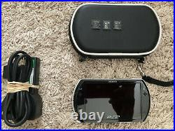 Sony PSP Go 16GB Handheld System Black Case Charger M Cards Mint Condition