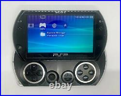 Sony PSP Go Launch Edition 16GB Piano Black with Charger & Case Tested