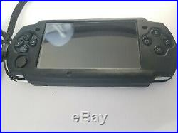 Sony PSP Piano Black SLIM 2001 MODDED System with Black Silicone case