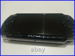 Sony PlayStation Portable PSP 3003 Slim Lite Piano Black Console + Case + Memory