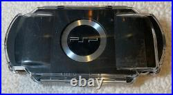 Sony Playstation PSP Console 2001- Piano Black New Battery Case, Bag And Charger