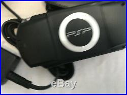Sony Psp -1003 Piano Black Handheld System + Case + Charger Mint Condition