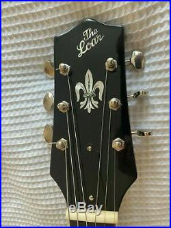 The Loar LH350-BK Archtop electro acoustic guitar OHSC Case GLOSS PIANO BLACK