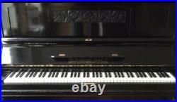 Upright Melodic Piano With Unique Black Carved Exterior Case Swiss Made