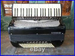 Vintage Soprani Ampliphonic Piano Accordion in Black (no case) Made in Italy
