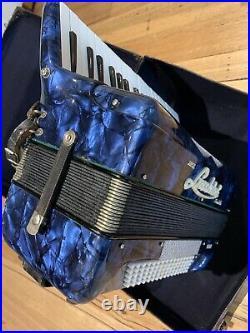 Vintage Super Lucchini Stradella Piano Accordion 80 Bass Hard Case