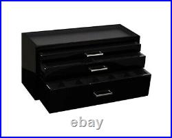 WOLF Meridian Collection Modular Watch Box Storage Case PIANO BLACK used