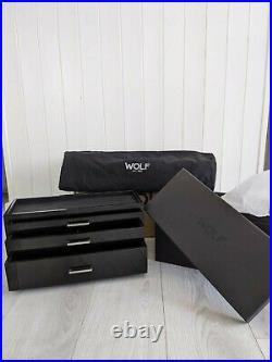 WOLF Meridian Watch Box Piano Black Storage Case