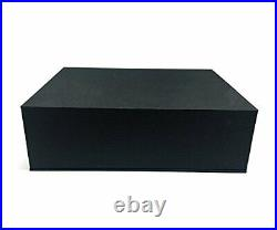 White Piano Music Box with Bench and Black Case Musical Boxes Gift for
