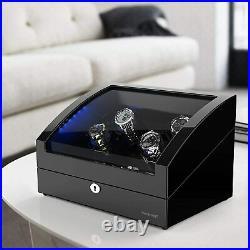 Winding machine Watch winder 10 watch cases storage Piano mirror finish