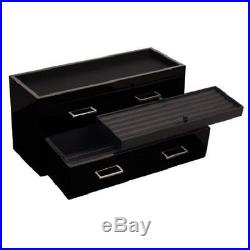 Wolf Piano Black Meridian Two Drawer Valet Charging Station Pen Box Case