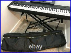 Yamaha P-45 Digital Piano (Black) with heavy duty stand and carry case