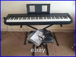 Yamaha P-45 Digital Piano Stand, Stool, Headphones, Carry Case, Manual