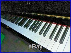 Yamaha U3 upright piano in a black polyester black case